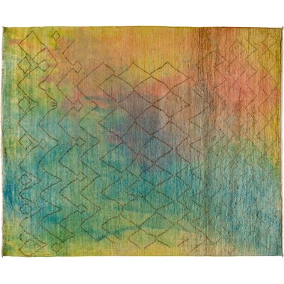 Moroccan Hand-Knotted Multicolor Area Rug