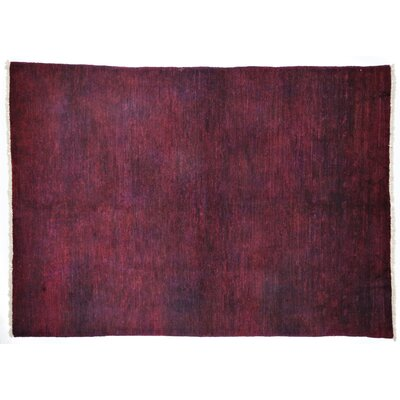 Moroccan Hand-Knotted Pink Area Rug