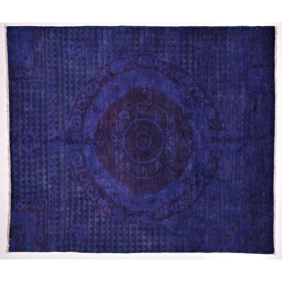 One-of-a-Kind Moroccan Hand-Knotted Purple Area Rug