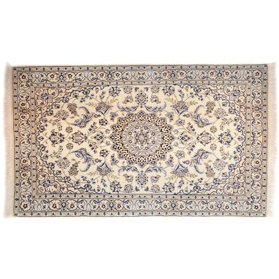 One-of-a-Kind Nain Hand-Knotted Beige Area Rug