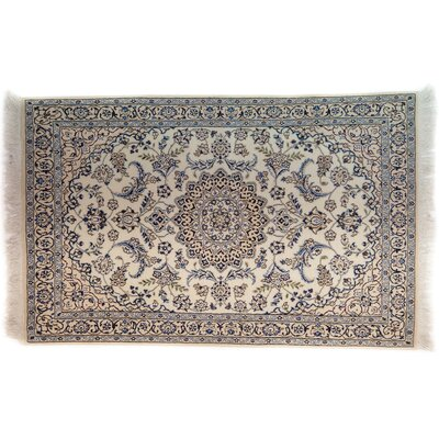 One-of-a-Kind Nain Hand-Knotted Ivory Area Rug