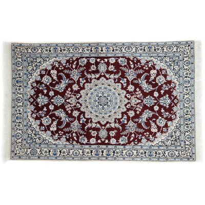One-of-a-Kind Nain Hand-Knotted Red Area Rug
