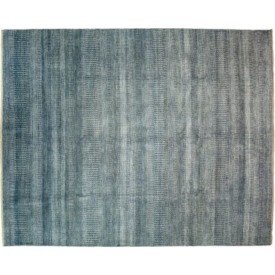 One-of-a-Kind Savannah Hand-Knotted Blue Area Rug
