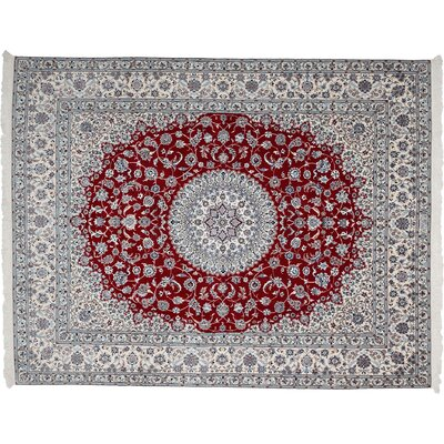 Nain Hand-Knotted Red Area Rug