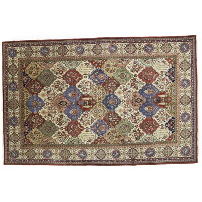 One-of-a-Kind Sarouk Hand-Knotted Multicolor Area Rug