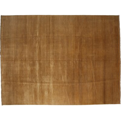 Savannah Hand-Knotted Brown Area Rug