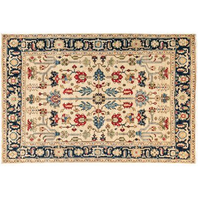 One-of-a-Kind Serapi Hand-Knotted Beige Area Rug