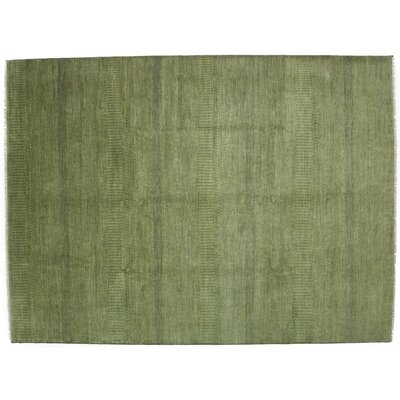 One-of-a-Kind Savannah Hand-Knotted Green Area Rug