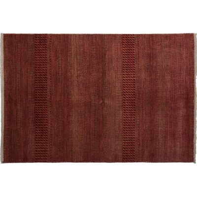 One-of-a-Kind Savannah Hand-Knotted Red Area Rug Rug Size: Rectangle 41 x 6