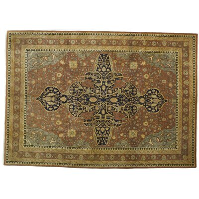 Serapi Hand-Knotted Brown Area Rug