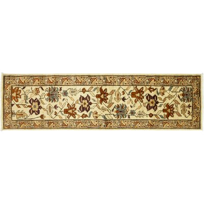 One-of-a-Kind Serapi Hand-Knotted Ivory Area Rug