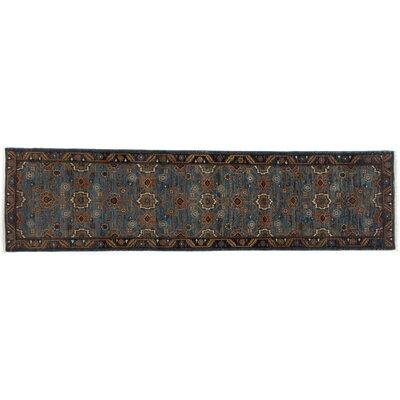 One-of-a-Kind Serapi Hand-Knotted Blue Area Rug