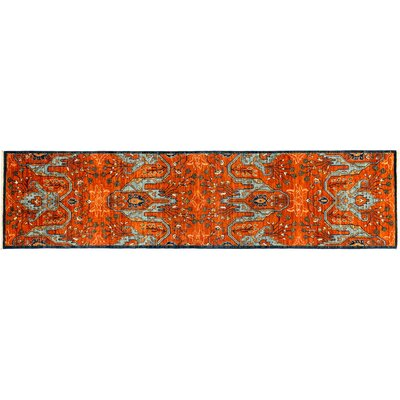 Serapi Hand-Knotted Orange Area Rug