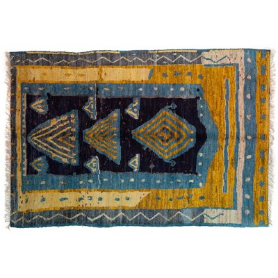 One-of-a-Kind Shag Hand-Knotted Multicolor Area Rug