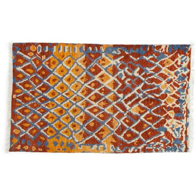 Shag Hand-Knotted Multicolor Area Rug