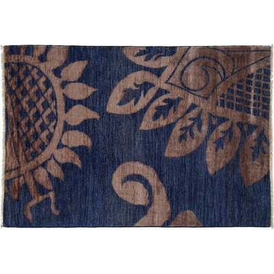 One-of-a-Kind Shalimar Hand-Knotted Blue Area Rug