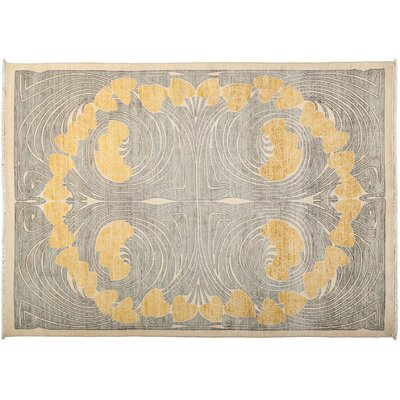 One-of-a-Kind Shalimar Hand-Knotted Gray Area Rug