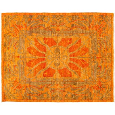Shalimar Hand-Knotted Orange Area Rug