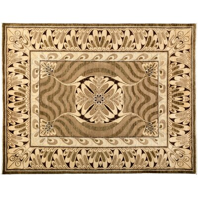 Shalimar Hand-Knotted Brown Area Rug