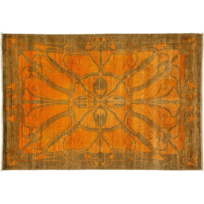 Shalimar Hand-Knotted Yellow Area Rug