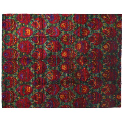 Shalimar Hand-Knotted Red Area Rug