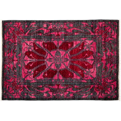 Shalimar Hand-Knotted Pink Area Rug