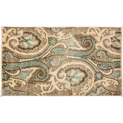 Suzani Hand-Knotted Beige Area Rug