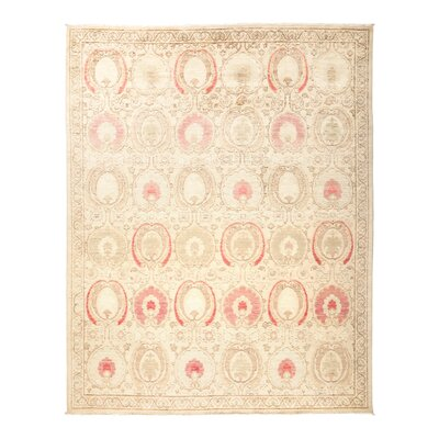 Suzani Hand-Knotted Beige Area Rug Rug Size: 81 x 103