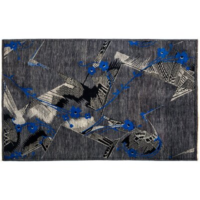 Suzani Hand-Knotted Gray Area Rug