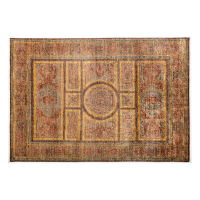 One-of-a-Kind Suzani Hand-Knotted Brown Area Rug