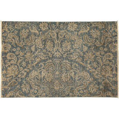 One-of-a-Kind Suzani Hand-Knotted Gray Area Rug