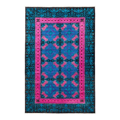 Suzani Hand-Knotted Multicolor Area Rug