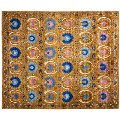 One-of-a-Kind Suzani Hand-Knotted Multicolor Area Rug Rug Size: 82 x 910