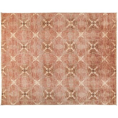 Suzani Hand-Knotted Pink Area Rug