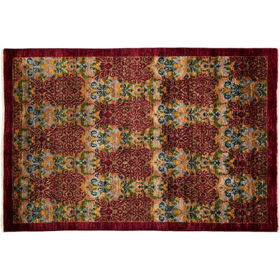Suzani Hand-Knotted Red Area Rug