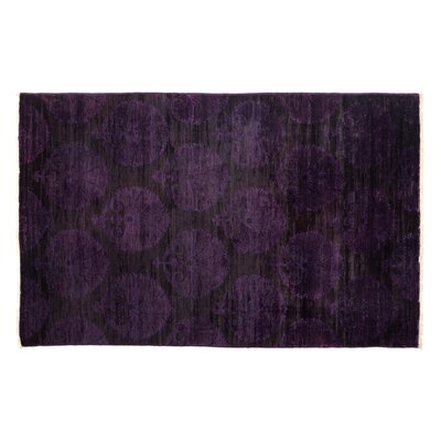 Vibrance Hand-Knotted Black Area Rug