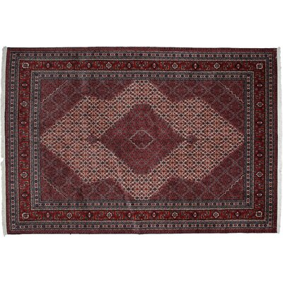 One-of-a-Kind Tabriz Hand-Knotted Red Area Rug