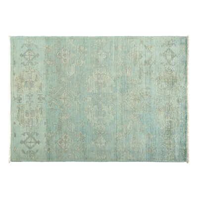 One-of-a-Kind Vibrance Hand-Knotted Blue/Gray Area Rug