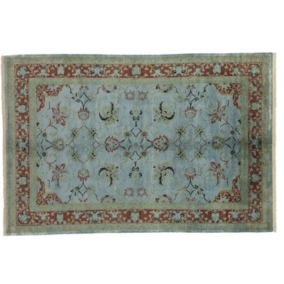 Vibrance Hand-Knotted Blue/Brown Area Rug