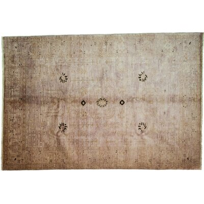 One-of-a-Kind Vibrance Hand-Knotted Brown Area Rug