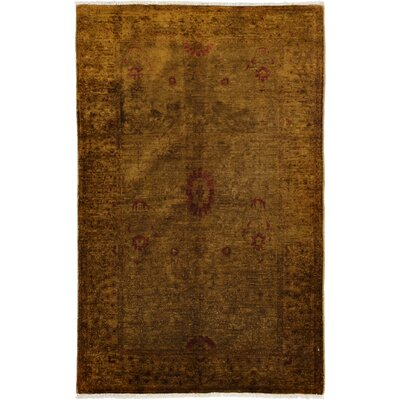 One-of-a-Kind Vibrance Hand-Knotted Dark Olive Area Rug