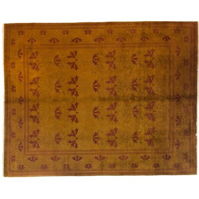 One-of-a-Kind Vibrance Hand-Knotted Orange Area Rug