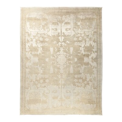 One-of-a-Kind Vibrance Hand-Knotted Ivory Area Rug