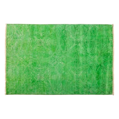 Vibrance Hand-Knotted Green Area Rug