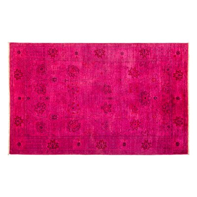 One-of-a-Kind Vibrance Hand-Knotted Pink Area Rug