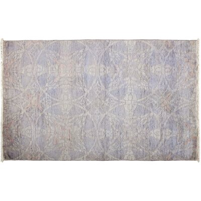 Vibrance Hand-Knotted Purple Area Rug Rug Size: 42 x 62