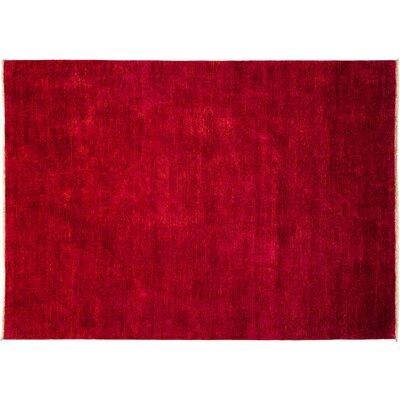 Vibrance Hand-Knotted Red Area Rug