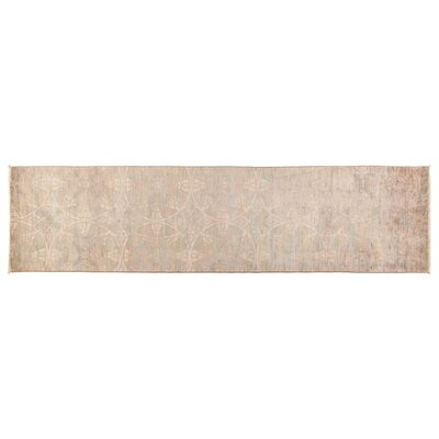 Vibrance Hand-Knotted Beige Area Rug
