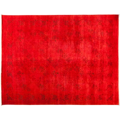 One-of-a-Kind Vibrance Hand-Knotted Red Area Rug