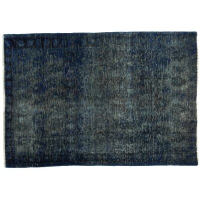 One-of-a-Kind Vintage Hand-Knotted Blue Area Rug